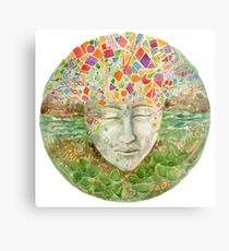 Mandala- meditation Metal Print