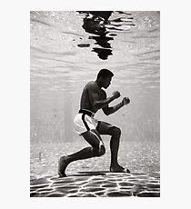 Muhammad Ali Underwater Poster Photographic Print