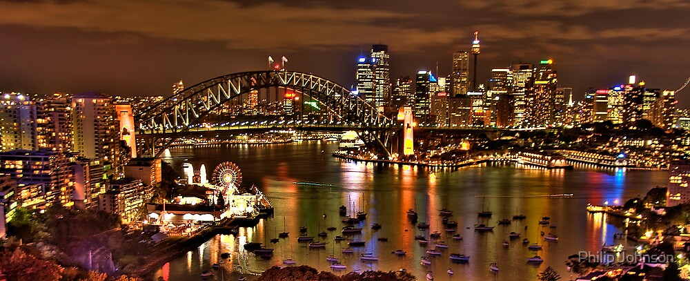 "*Fantasia""- The Photographers Cut Sydney Harbour And Skyline - Moods Of A City - THe HDR Experience by Philip Johnson"