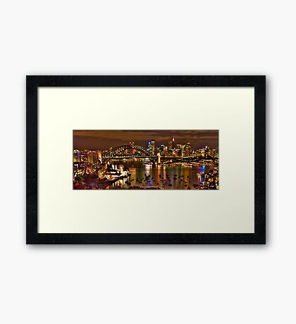 """*Fantasia""""- The Photographers Cut Sydney Harbour And Skyline - Moods Of A City - THe HDR Experience Framed Print"""