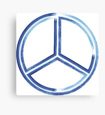 Abstract watercolor peace sign - Hand painted Canvas Print