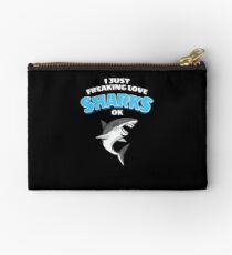 I Just Freaking Love Sharks Studio Pouch