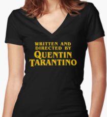 QUENTIN TARANTINO Women's Fitted V-Neck T-Shirt