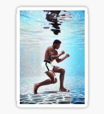 Muhammad Ali underwater colorful poster Sticker