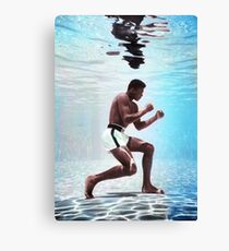 Muhammad Ali underwater colorful poster Canvas Print