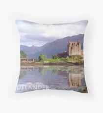 Eilean Donan Castle , Scotland Throw Pillow