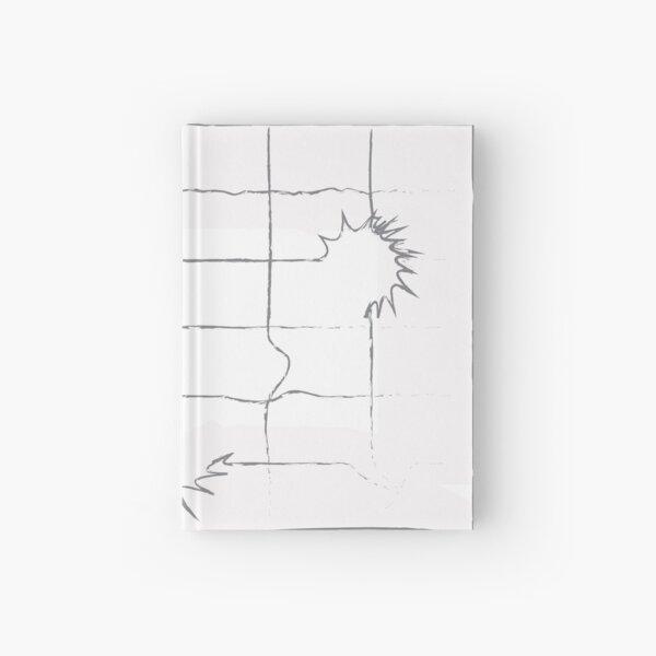 geometric grey Hardcover Journal