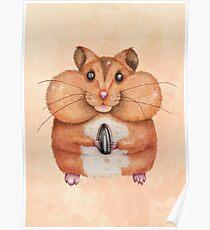Sunflower Hamster Poster