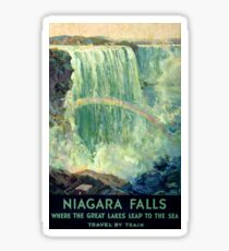 Niagara Falls Vintage Travel Poster Restored Sticker
