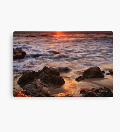 Glowing Sand Canvas Print