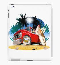 Vector cartoon retro pickup iPad Case/Skin