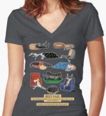 Greyhound Glossar: Bed Fail. Ein Redbubble exklusives Design Tailliertes T-Shirt mit V-Ausschnitt