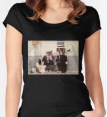 Smoking Kittens Women's Fitted Scoop T-Shirt