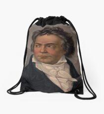 Vintage Portrait of Ludwig van Beethoven (1870) Drawstring Bag