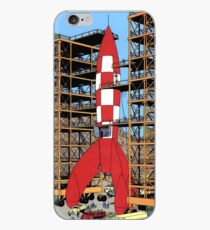 Tintin rocket iPhone Case