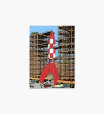 Tintin rocket Art Board