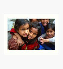 Setan Kids, Himachal Pradesh, India Art Print