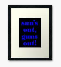 Summer Vest - GUNS Framed Print