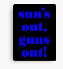 Summer Vest - GUNS Canvas Print