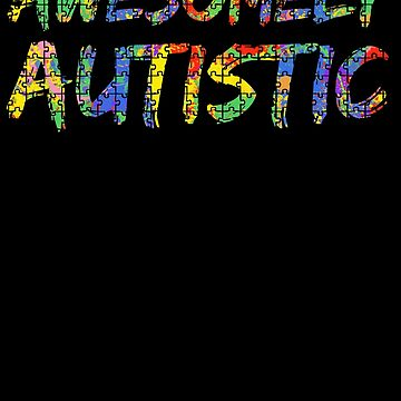 Awesomely Autistic Autism Awareness Puzzle Paint Splash by TNDesignStudio