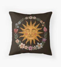Midsummer Sun Throw Pillow