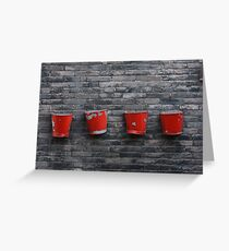 Red on Grey Greeting Card