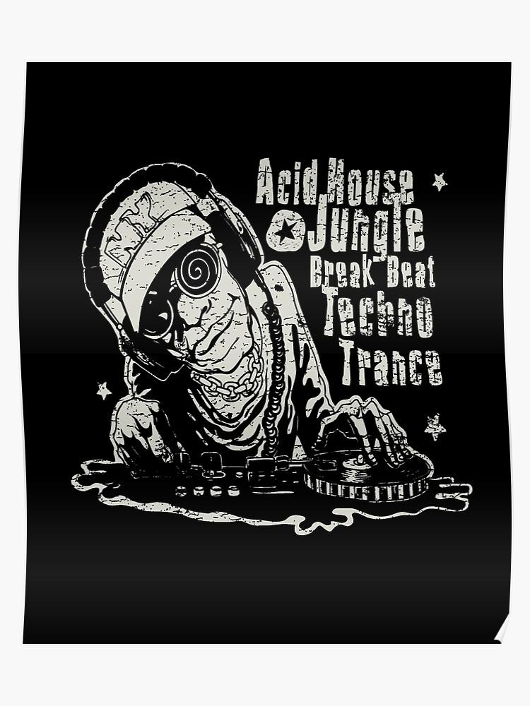 Acid House, Jungle, Break Beat, Techno, Trance DJ Music | Poster