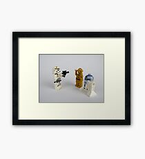 Toy Figure Characters Framed Print