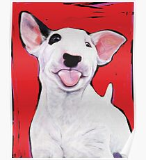 Bull Terrier Puppy Poster