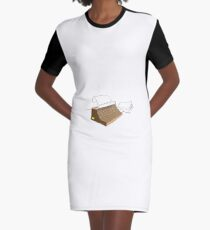 Old Fashioned Vintage Type Writer Graphic T-Shirt Dress