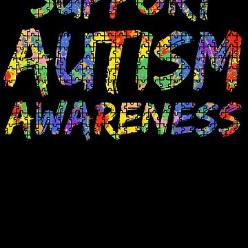 Support Autism Awareness Puzzle Paint Splash by TNDesignStudio