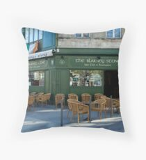 The Blarney Stone Pub Throw Pillow