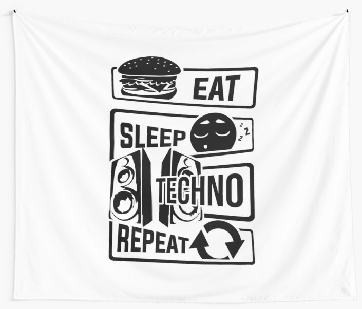 dance techno party festival EAT SLEEP RAVE REPEAT All SIZES T-SHIRT COLS