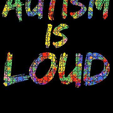 Autism is Loud Autism Awareness Paint Puzzle by TNDesignStudio