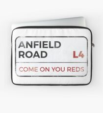 """Liverpool """"Come on you reds"""" street sign - Liverpool wall art - Liverpool posters - Liverpool accessories Laptop Sleeve"""