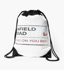 "Liverpool ""Come on you reds"" street sign - Liverpool wall art - Liverpool posters - Liverpool accessories Drawstring Bag"