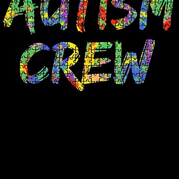 Autism Crew Autism Awareness Paint Puzzle by TNDesignStudio