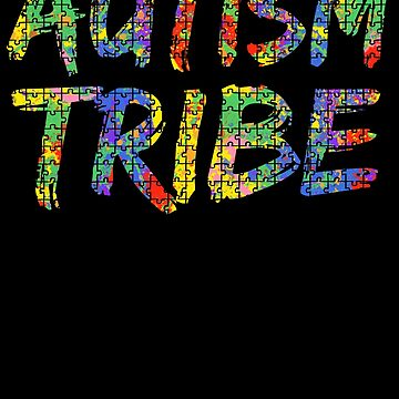 Autism Tribe Autism Awareness Paint Puzzle by TNDesignStudio