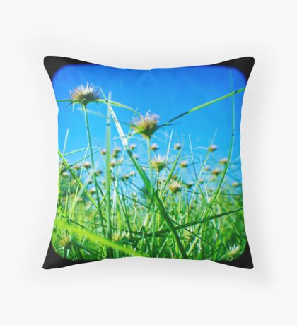Where the Weeds Go Wild  Throw Pillow