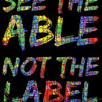 See the Able not the Label Autism Awareness Paint Puzzle by TNDesignStudio
