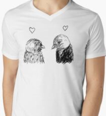 birdie love Mens V-Neck T-Shirt