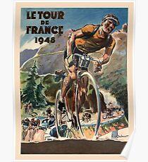 Vintage Französisch Tour De France Radfahren Poster