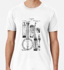 Banjo Patent T Shirt 1882 Men's Premium T-Shirt