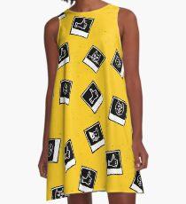 Like My Cat Polaroids Pics Pattern A-Line Dress