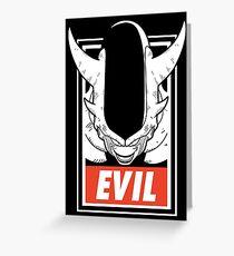 Evil 3er Greeting Card