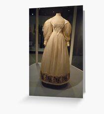 Historic Dress Greeting Card