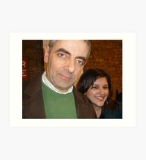 Meeting Rowan Atkinson Art Print