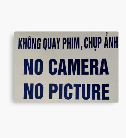 No Camera No Picture....no kidding Canvas Print