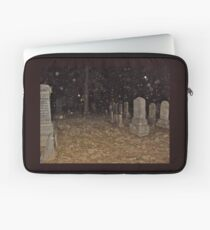 Rain In the Cemetery At Night Laptop Sleeve