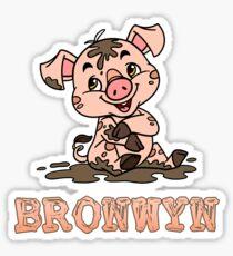 Bronwyn Piggy Sticker